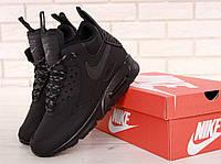 Мужские зимние термо кроссовки Nike Air Max 90 Sneakerboot в черном цвете, фото 1