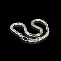 Серебряный браслет, 175мм, 6 грамм, плетение Снейк, фото 2