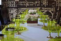 Сервировочный набор посуды стекловидный CFP 84 шт/6 пер для фуршета банкета презентации выставки party