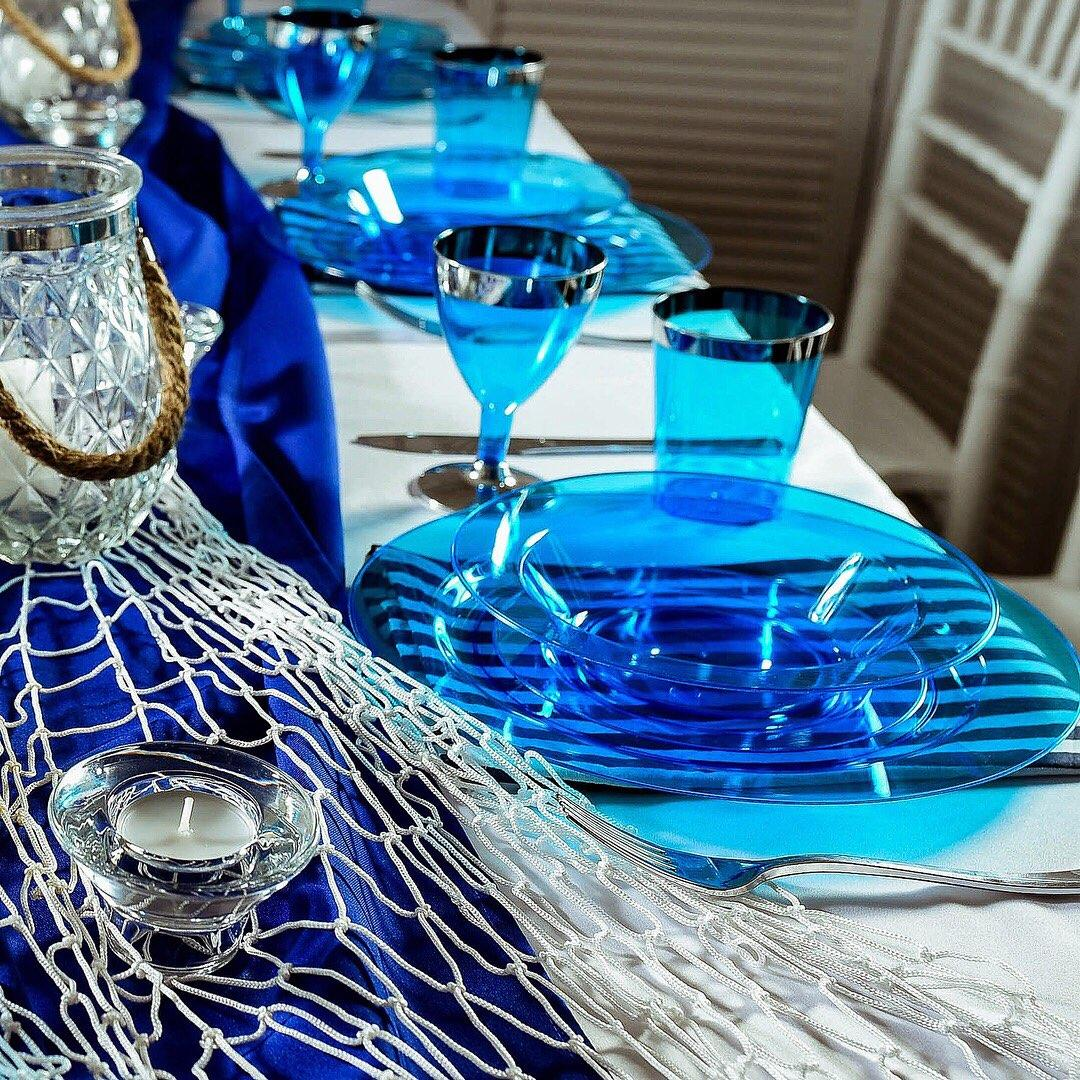 Посуда Capital For People пластиковая многоразовая плотная для банкета. Полная сервировка стола 90 шт 6 чел