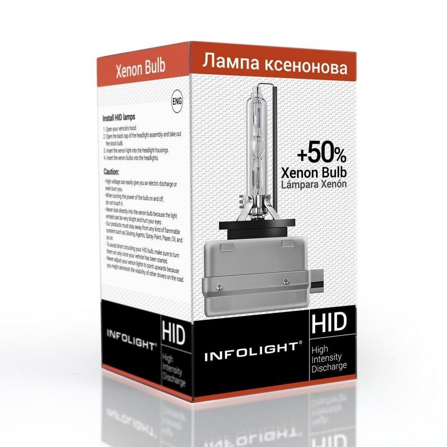 Лампа ксеноновая Infolight D3S, +50%, 5000K, 35W