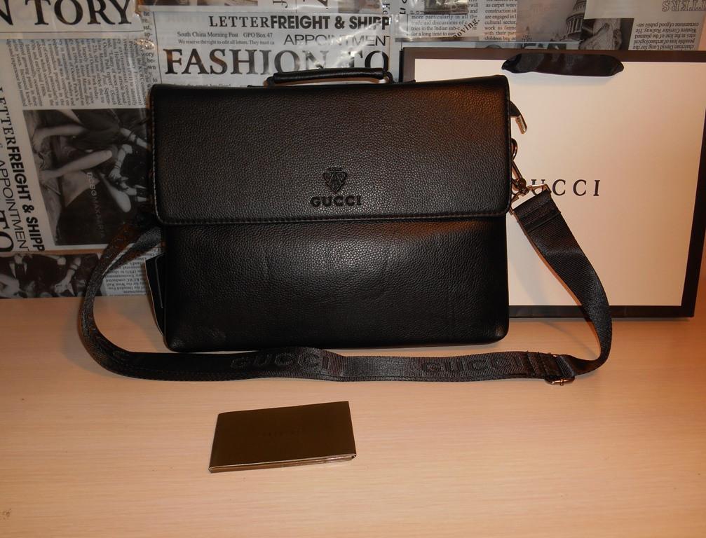 49797dedcc8b Сумка мужская, портфель Гуччи Gucci, кожа, Италия: продажа, цена в ...