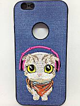 Чохол з вишивкою iPhone 6/6s Cat
