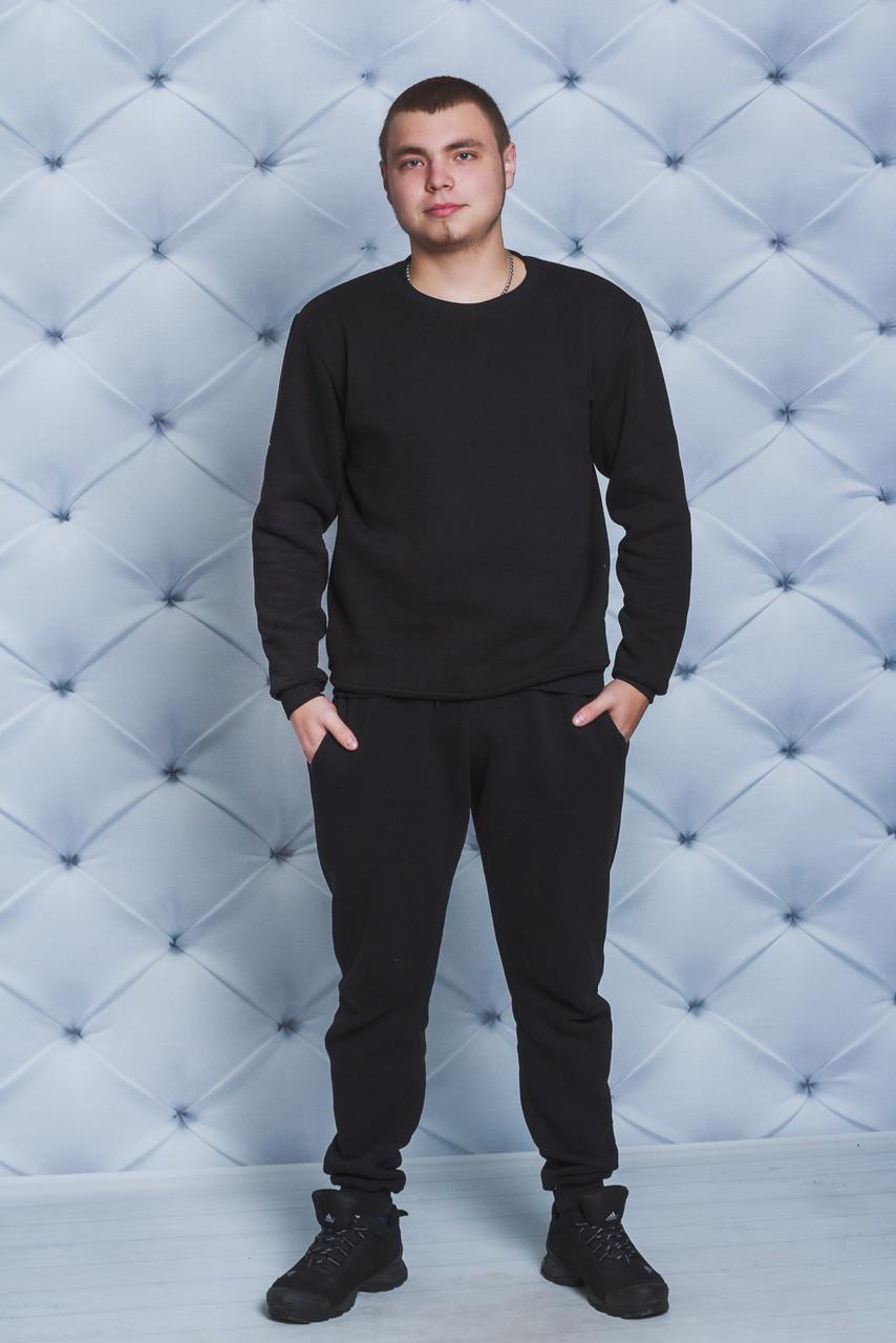 Спортивный костюм мужской утепленный черный