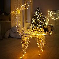 Гирлянда внешняя Adenki Олень новогодний светодиодный 210 см Желтый (5-210YELLOW)