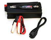 Преобразователь UKC 12V-220V 1000W автомобильный инвертор с зарядкой (sp_1687)