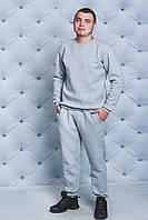 Спортивный костюм мужской утепленный св-серый, фото 1