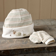 Шапка для новорожденных, варежки-царапки, Teddy&Ele
