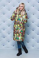 Пальто женское зимнее Цветы, фото 1