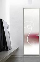Межкомнатные стеклянные итальянские  двери Doal Life Luce с минимальным профилем дверной коробки