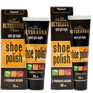 "Крем для обуви ""Blyskavka"" 50мл черный тюбик"