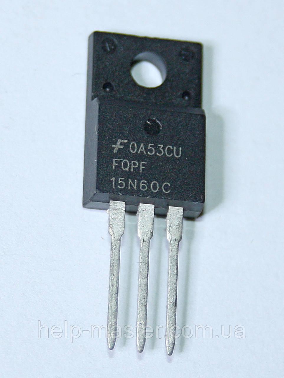 Транзистор FQPF15N60C (TO-220F)