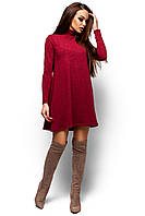 Тёплое бордовое платье , фото 1