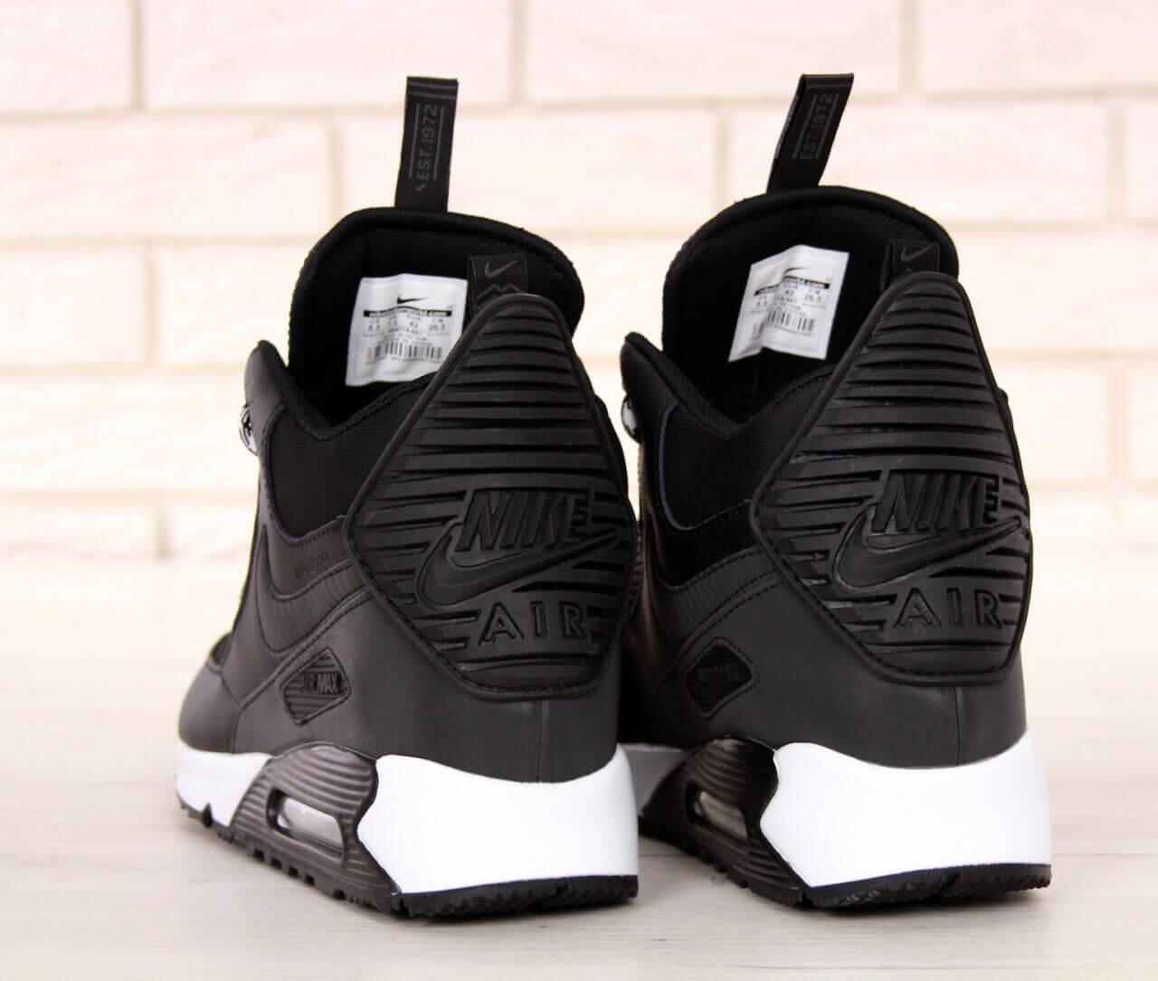 Зимние мужские кроссовки Nike Air Max 90 Sneakerboot Winter Black ... b4d5f239ec2