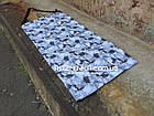 Складной коврик для фитнеса Разминка 180х60х1см, серый, фото 4