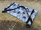 Складной коврик для фитнеса Разминка 180х60х1см, серый, фото 5