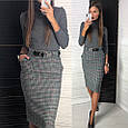 Твидовая юбка карандаш, фото 2