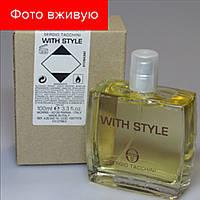 100 ml Tester Sergio Tacchini With Style.Eau de Toilette|Тестер туалетная вода Серджио Тачини Виз Стайл 100мл