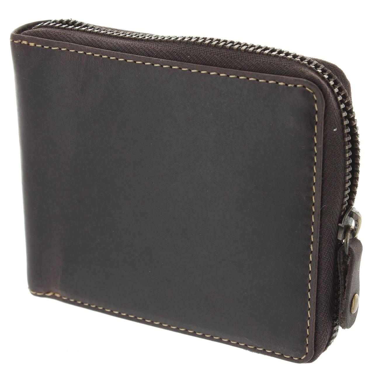 Мужской кошелек на молнии Visconti 702 oil brown (Великобритания)