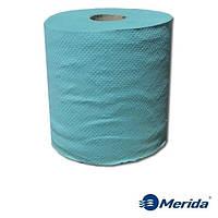 Полотенца бумажные Merida Klasik зеленые однослойные в рулонах Maxi 180 м., Польша
