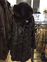 Норковая шуба с капюшоном, шуба из натуральной норки, капюшон, фото 1