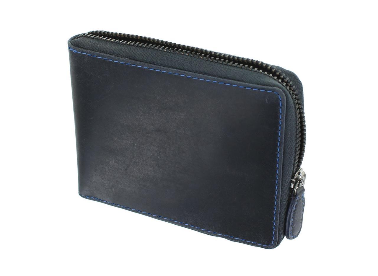 Мужской кошелек на молнии Visconti 702 oil blue (Великобритания)