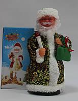 Дед мороз музыкальный, 23 см, песня, темный цвет, фото 1