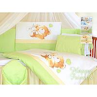Сменный постельный комплект в детскую кроватку TUTTOLINA 3эл.