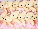 Игрушка для букетов Мишка в розовом 1 штука, фото 2