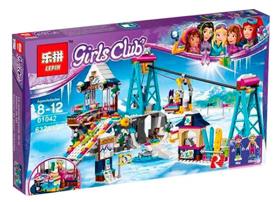 """Конструктор Lepin Friends 01042 """"Горнолыжный курорт: подъёмник"""" (аналог LEGO )"""