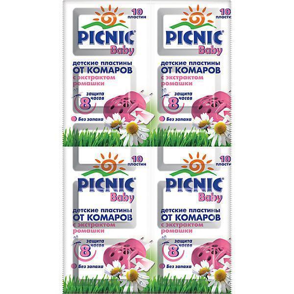 """Пластины """"Picnic Baby"""" защита от комаров 10 шт. код 763"""