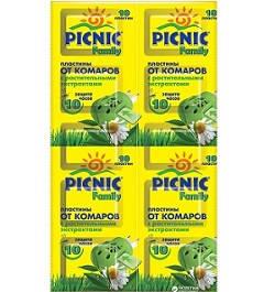 Пластини Picnic Familyзахист від комарів 10  шт (4820185020428)