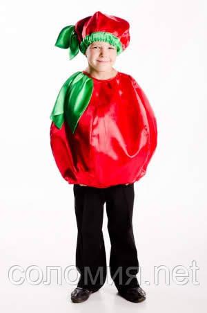 Детский карнавальный костюм для мальчика Помидор 104-128р