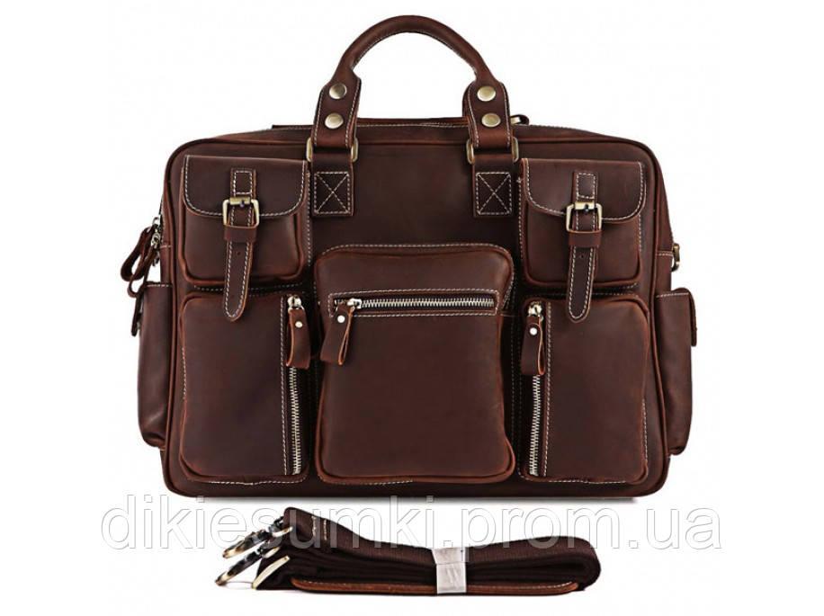 955b86d6dc19 Мужская брутальная кожаная сумка портфель Tiding Bag 7028R-1 в ...