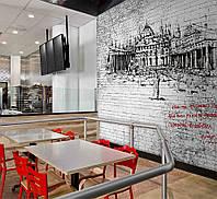 Плитка гипсовая  панно с рисунком на всю стену
