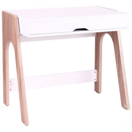 Компьютерный стол Esenin белый+орех светлый/белый, TM AMF