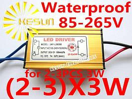 Драйвер мощного светодиода 6-9Вт 12В AC100-240V 600mA