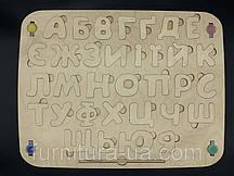 Деревянная украинская азбука.Краски+кисть. 36х49см