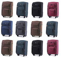 Тканевые чемоданы Wings 6802 на 4-х колесах