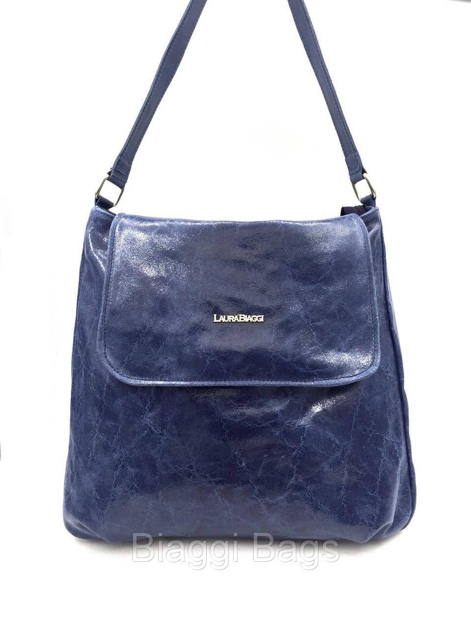 f5b06238e32a Сумка женская Laura Biaggi (1129) кожаная синяя, цена 1 552,95 грн ...