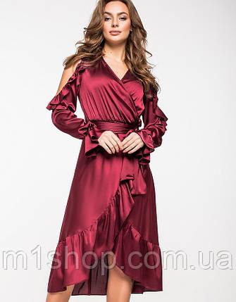 Женское шелковое платье на запах(5136-5137-5138 ie), фото 2