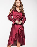 Женское шелковое платье на запах(5136-5137-5138 ie)