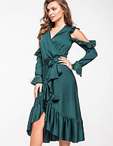 Женское шелковое платье на запах(5136-5137-5138 ie), фото 3