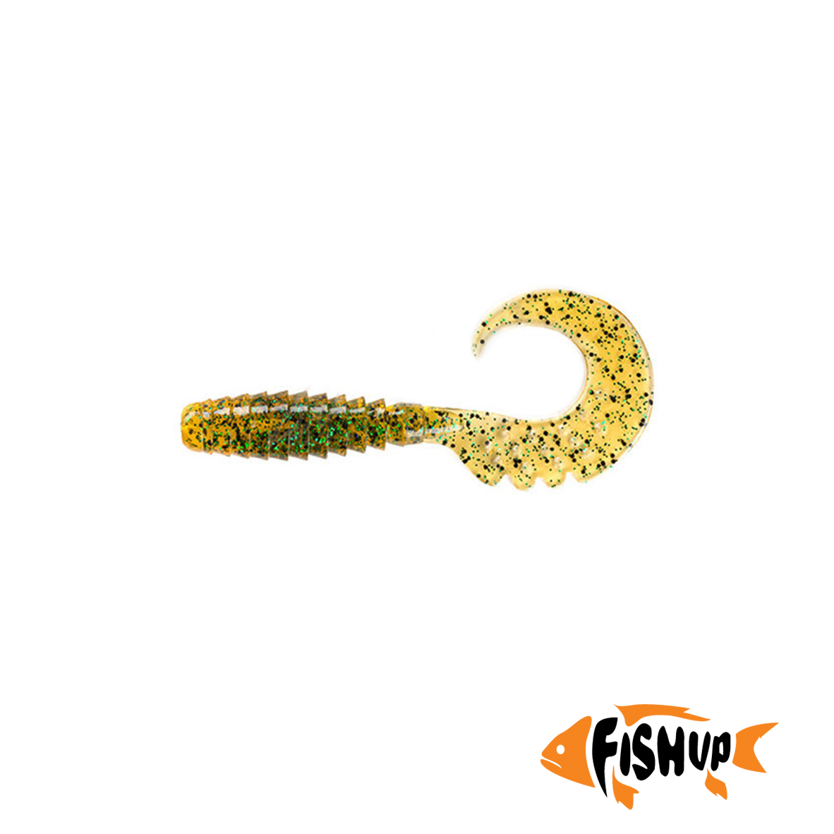 "Fancy Grub 2.5"" (10шт), #036 - Caramel/Green & Black"