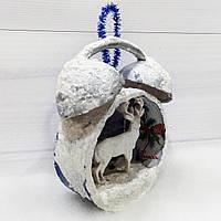 Новогоднее елочное украшение Будильник Подарок на новый год, фото 1