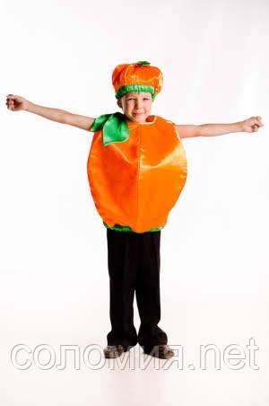 Детский карнавальный костюм для мальчика Апельсин 104-128р