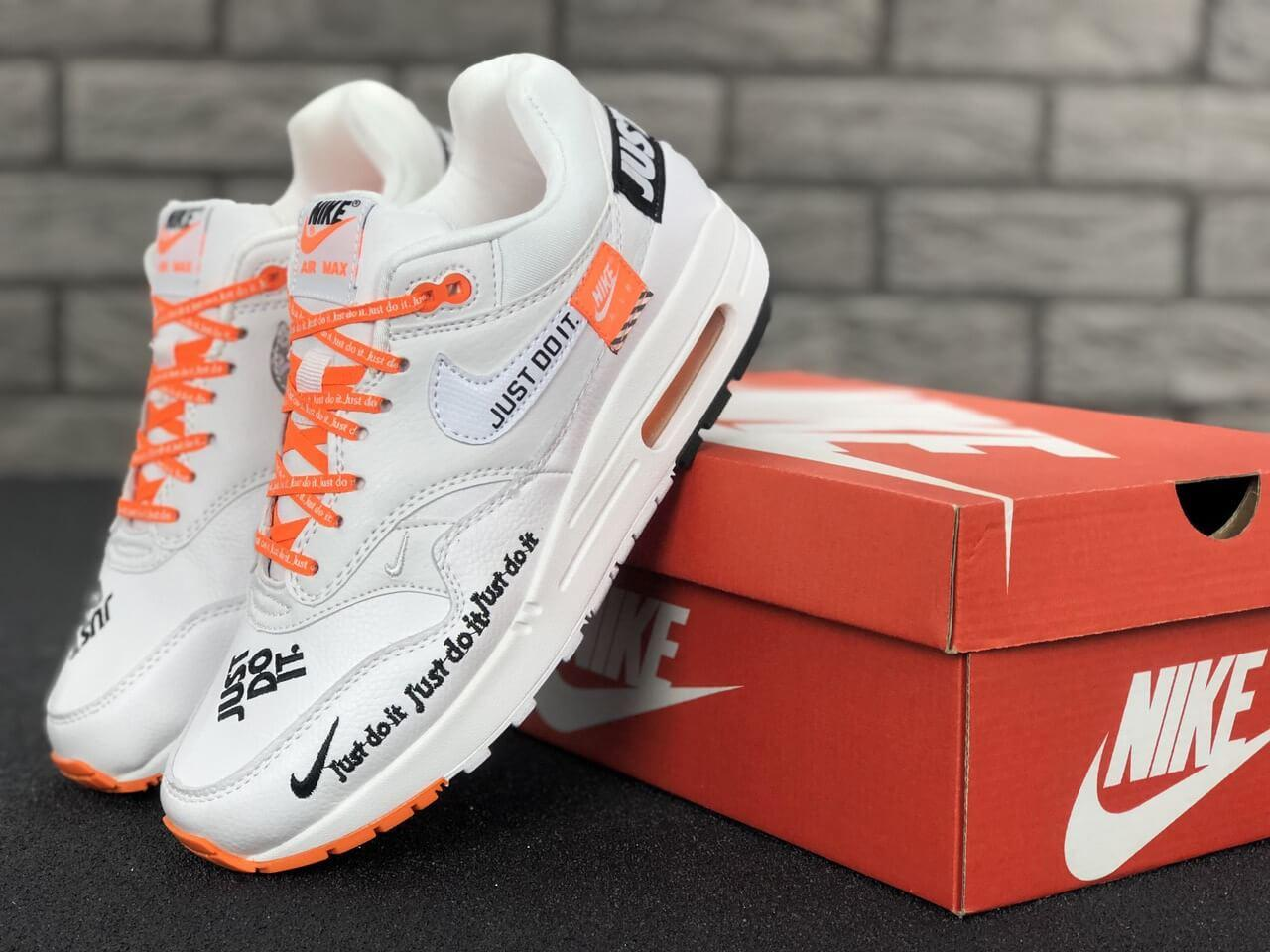 Кроссовки Nike Air Max 1 Just Do It White