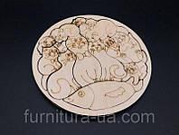 Пазл-сортер кошки деревянная. R15
