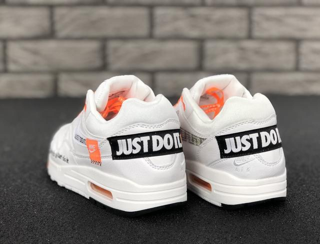 Мужские кроссовки Nike Air Max 1 Just Do It White