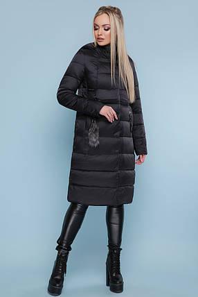 Куртка женская зимняя размеры 42-52 зеленый атлас, фото 2